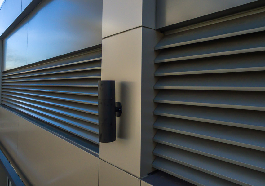 powder coated architectural louvers